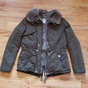 Zara - Trafaluc Faux Fur Parka Winter Coat Small